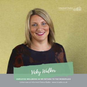 Employee wellbeing as we return to the workplace, with Vicky Walker