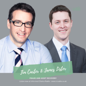 Fraud and asset recovery, with Tim Carter & James Lister